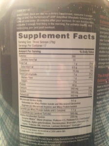 I only use a single scoop instead of 3, thats still 20g of protein!
