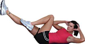 Why not try a few bicycle crunches