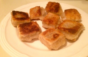 Pan-fried mochi