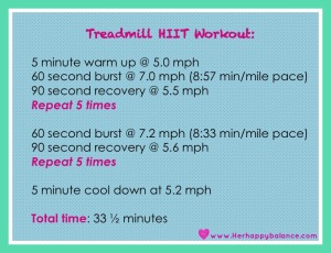 HIIT workout!